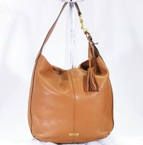 Coach Avery Tan Leather Shoulder Hobo Bag